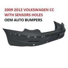 2009 2010 2011 2012 VOLKSWAGEN CC REAR BUMPER COVER WITH SENSORS HOLES GENUINE