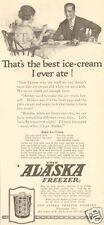 VTG 1922 ALASKA Ice Cream Freezer APPLE RECIPE Best Ever Husband KITCHEN Food Ad