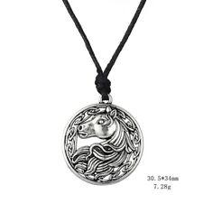 Irish knot animal jewelry round men pendant rope chain horse necklace N0005