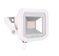 Luceco Guardian Slim Flood Light with 1 m Cable, 15 W, 3000K Colour Temperature,
