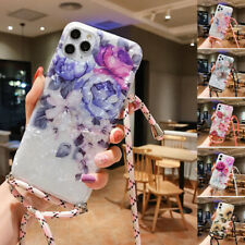 Iphone 11 Pro Max 8 Plus 7 X XR SE2 Flower Cute Girls Crossbody Phone Case Cover