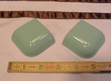 "2 pcs. Fern Green  2"" X 2""  Glossy Ceramic Radius Bullnose Outside Corner Tiles"