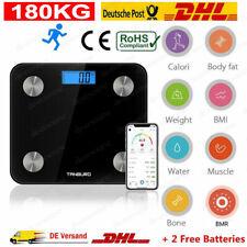 200kg Bluetooth Körperwaage Personenwage Fitnesswaage Gewicht Waage BMI Analyse