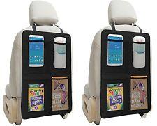 Kick Mat Auto Seat Back Protectors + 4 Large Organizer Pockets By Lebogner