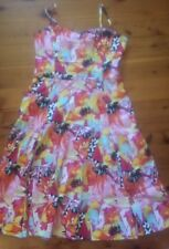 "Vibrant ""Miss Anne"" Sundress Size XL - As new - Ruched bodice, Swing skirt"