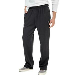 Champion Men's Jersey Open Bottom Pants Black Size M $30 NWT