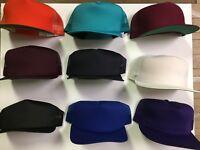 Vintage New Era Snapback Cap Hat Deadstock 80s Medium-Large Blank Dupont Visor