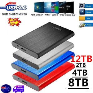 12TB USB3.0 External Hard Drive Disks 2.5''HDD For PC Laptop Desktop Portable AU