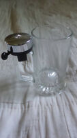 Vintage NWT and NIB West German Bell Stein Clear Glass with Labels
