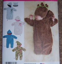 INFANT BABY cuddly fleece BUNTING sewing pattern preemie to 6 mo. pram snowsuit