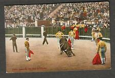 unmailed RPPC photo post card Gallo despues de-uma estocada/bull matadors