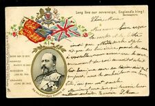 Royalty EDWARD VII Coronation Tuck Empire #239 u/b embossed PPC Faults 1902