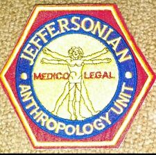 BONES TV Series Jeffersonian Anthropology Unit Embroidered PATCH, New