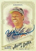 Andre Dawson Autographed 2018 Topps Allen & Ginter Chicago Cubs Card - HOF - COA