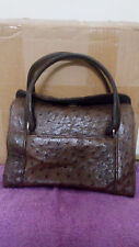 Authentic Ostrich Genuine Leather Hand Bag