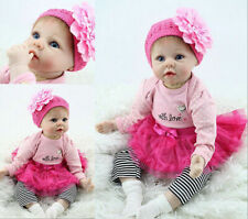 "Real Life 22"" Bambole Newborn Rebron Baby Dolls Soft Silicone Girl Boy Doll"