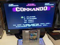 🔥100% WORKING NINTENDO NES RARE SUPER FUN Game Cartridge - CAPCOM COMMANDO🔥