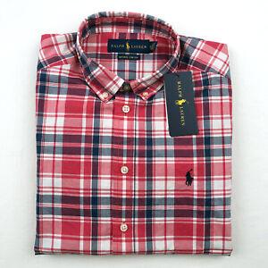 Polo Ralph Lauren Boy's Shirt Plaid Button Down Cotton Kids Shirt