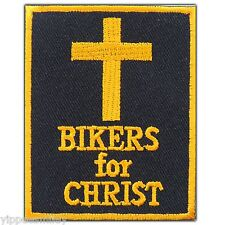 Biker For Christ Cross Jesus Christian Motorcycle Tattoo Iron-On Patches #0624