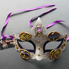 Purple Venetian Masquerade Mask Party Prom Wedding Halloween Costume Mardi Gras