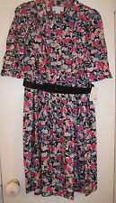 NEW JESSICA SIMPSON WORK FLORAL SHORT SLEEVE DRESS- SIZE 8- MSRP $128.00