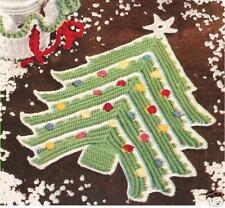 Crochet Xmas Tree Pot Holder Hot Pad Vintage Pattern