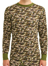 Hanes 125439 Men's Waffle Knit Thermal Crewneck with FreshIQ Camo
