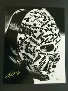 GERRY CHEEVERS AUTOGRAPHED 11X17 MASK PHOTO  J.S.A. AUTHENTICATED