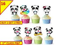 32 Baby Bus Edible Cup Cake Party Toppers Children Kids Birthday STAND UP
