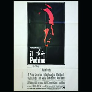 """THE GODFATHER 1972 Original Movie Poster 39x55"""" 2Sh Italian BRANDO PACINO DUVALL"""