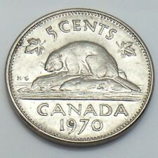 1970 Canada 5 Five Cents Canadian Nickel Circulated Coin E826
