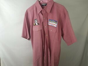 Used XL Hamms Beer Work Rockabilly Shirt With Back Patch (178)
