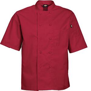 Dickies Chef Coat Mens Solid Cool Breeze Short Sleeve Chef Coat DC105