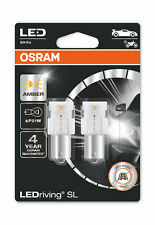 Osram LED P21W Amber Yellow Indicator Bulbs 12v BA15s (382 21W) 7506DYP-02B