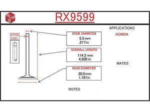 Engine Exhaust Valve ITM RX9599