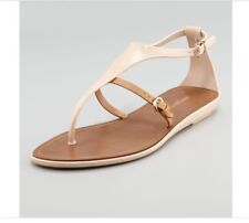 Sergio Rossi Rubber Thong Sandals Nude In Natural 38