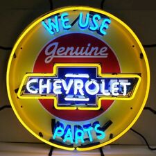 """Genuine Chevrolet 'We use Parts' Neon Sign 24""""x24"""""""