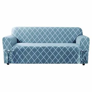 SURE FIT Lattice Loveseat Slipcover - pacfic blue  new