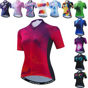 Cycling Jersey Women's Short Sleeve Bike Shirt Bicycle Clothing Quick-Dry Tops