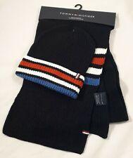 TOMMY HILFIGER - Schal + Mütze Set Schalset Hat + Scarf schwarz / NEU aus USA