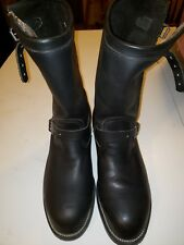 CHIPPEWA US Black Leather Steel Toe ENGINEER Motorcycle Boots Mens 10.5 D 27863