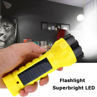 Solar Power Rechargeable Portable LED Flashlight Camping Hike Light Lantern