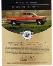 1997 GMC Sierra Red Pickup Truck VTG PRINT AD