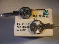 2 ORG  BRIGGS & STRATTON  OEM  GM  C   1967   KEY BLANK UNCUT  ORIGINAL