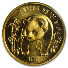 1986 1/10 oz Gold Chinese Panda Coin - Sealed in Plastic - SKU #8949