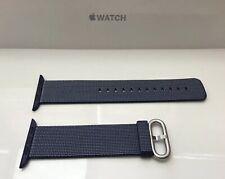 Genuino Apple Reloj Tejido Nylon Banda 42mm/44mm Azul Medianoche