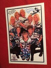 1970's alumni Dallas Cowboys CHEERLEADERS signed 5½x8¼ promo photo by all 8 DCC