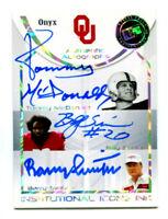 BARRY SWITZER/BILLY SIMS/TOMMY MCDONALD 2008 Press Pass Legends Triple Auto 6/25
