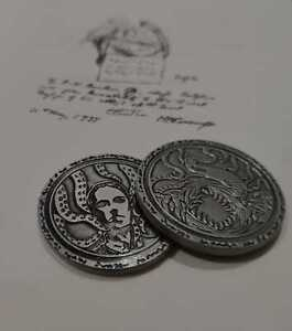 Cthulhu Mythos Young Cthulhu Statue Metal Coin Game Coins version 3pcs set