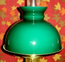 "10"" Green Cased Glass Shade for old antique kerosene oil / electric student lamp"
